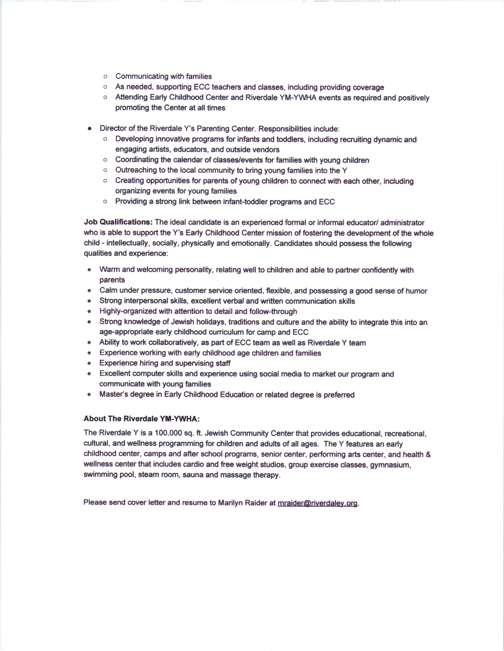 cover letter early childhood child care worker cover letter