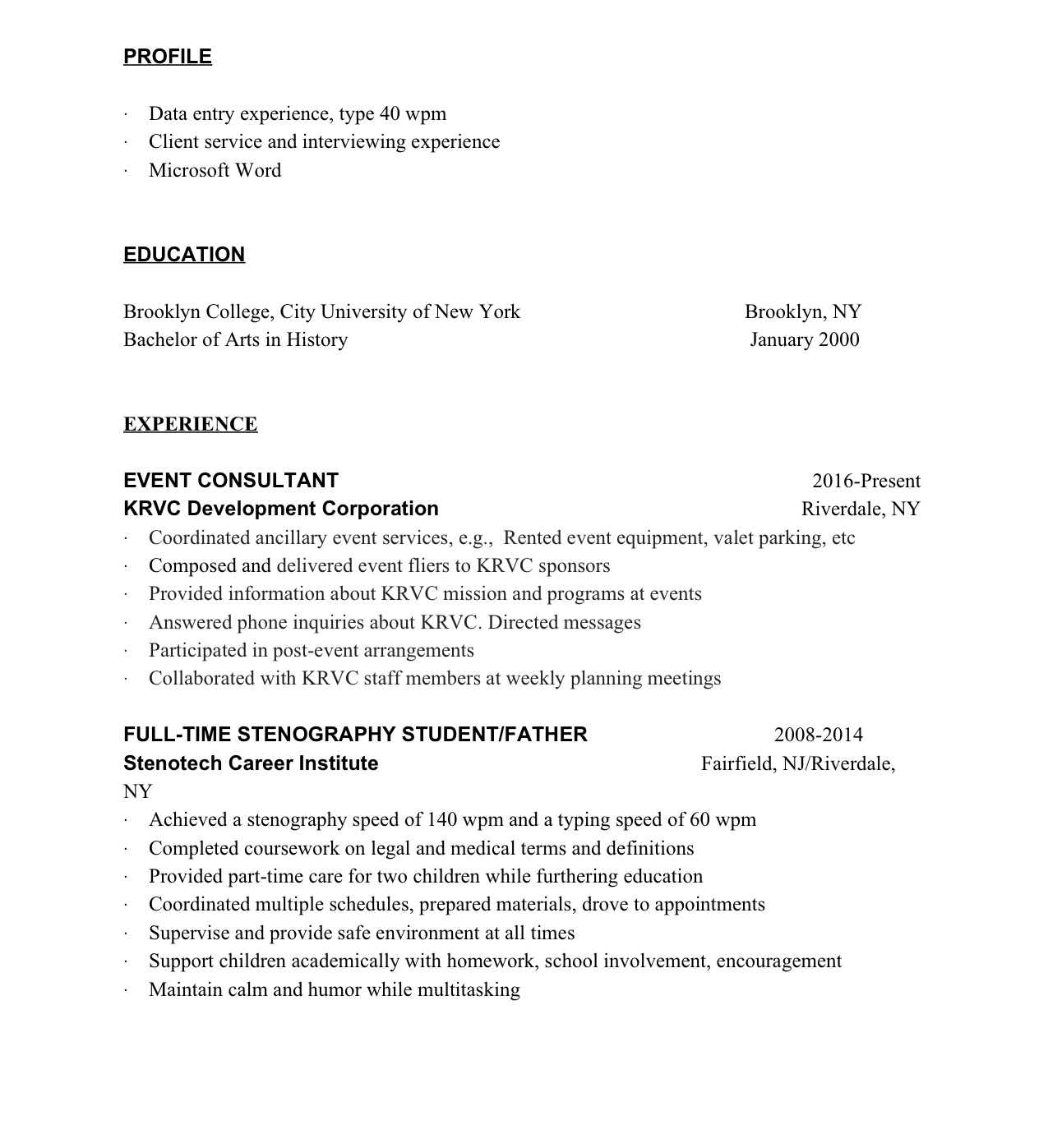Resumes KRVC - Microsoft word photography invoice template marshalls online store
