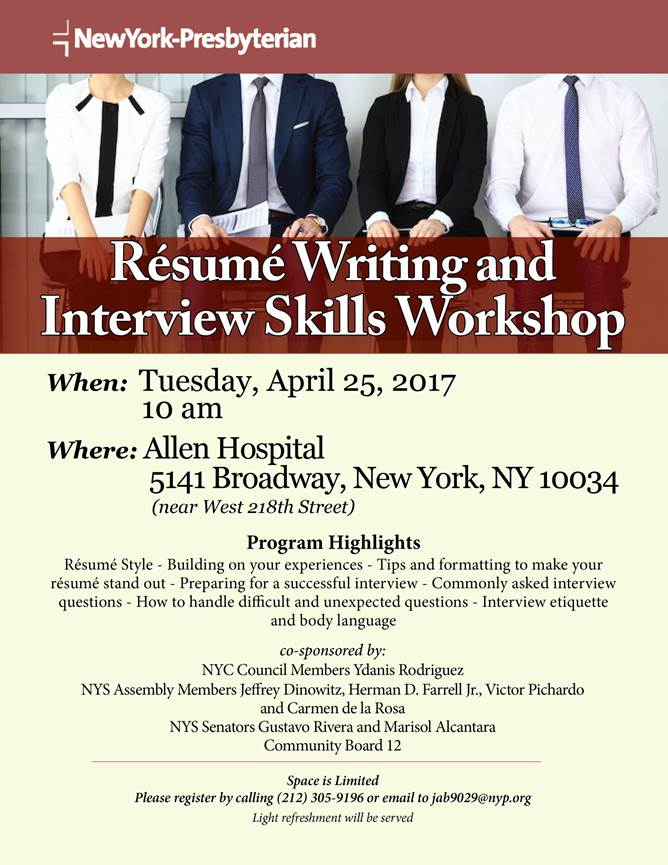 Resume Writing And Interview Skills Workshop Krvc